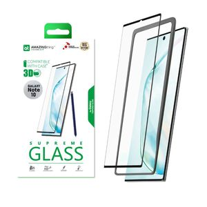Amazing Thing 3D Curved Full Cover Glass Screen Protector Black For Samsung Galaxy Note 10