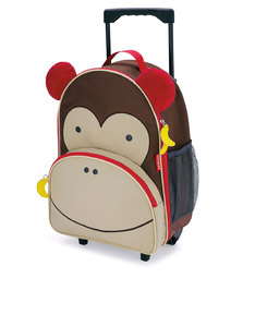 Skip Hop Zoo Kids Rolling Luggage Monkey