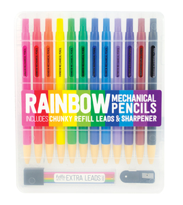 International Arrivals Rainbow Mechanical Colored Pencils [Set of 12]