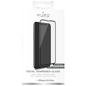 Puro Full Edge Premium Tempered Glass Black Screen Protector for iPhone XS Max