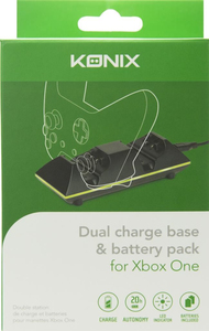 Konix Dual Charge Base & 2 Batteries for Xbox One