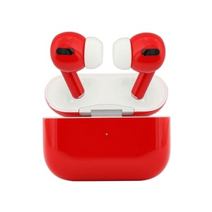 Apple AirPods Pro Matte Red Noise-Cancelling Earphones with Wireless Charging Case