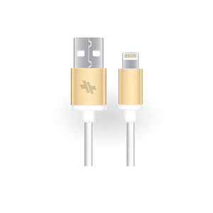 Swiss Mobility Alloy Series Sync/Charge Gold Lightning Cable 6Ft