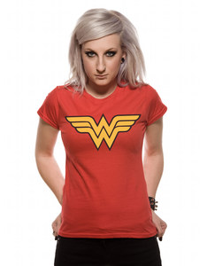 CID Wonder Woman Logo Red Women's T-Shirt