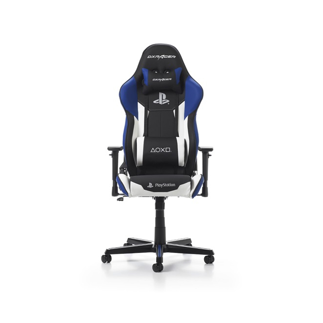 Astounding Dxracer Racing Series Playstation Logo Gaming Chair Gaming Chairs Gaming Accessories Gaming Virgin Megastore Andrewgaddart Wooden Chair Designs For Living Room Andrewgaddartcom