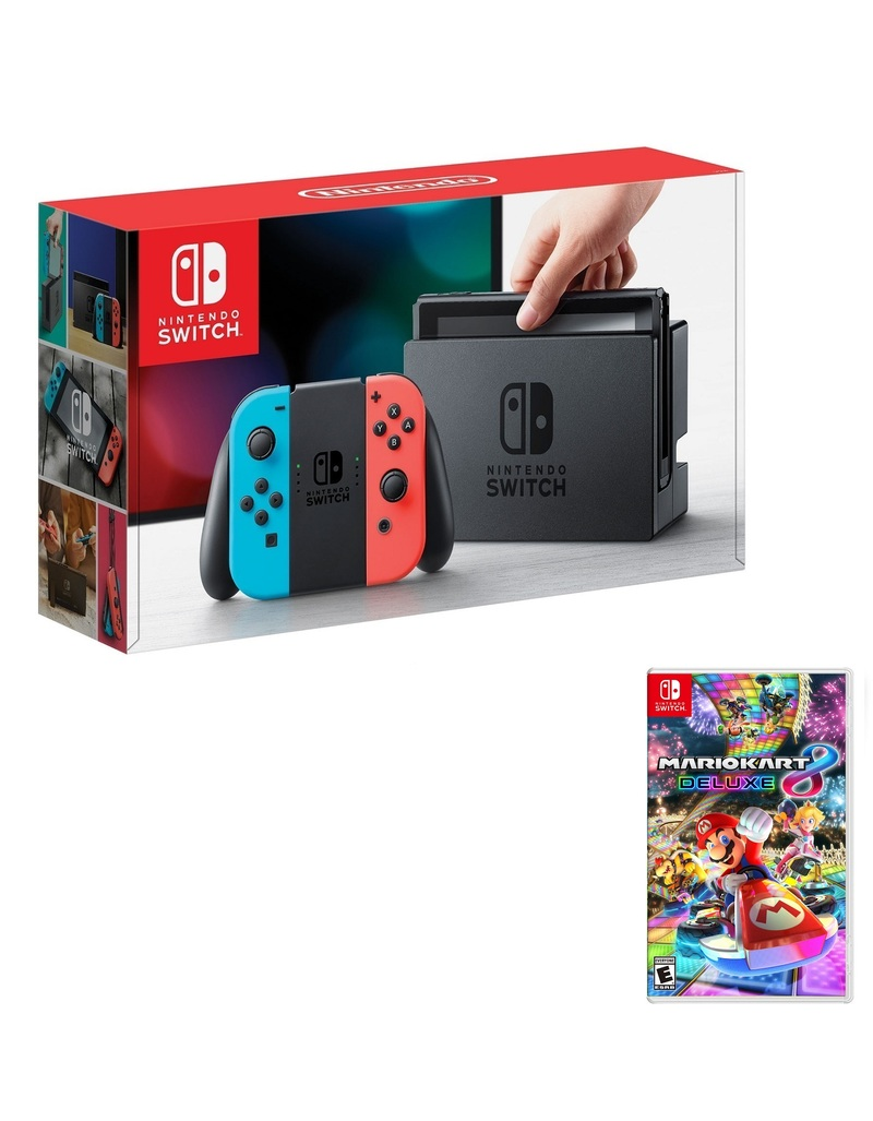 Nintendo Switch 32gb Console With Neon Joy Con Controller Mario Kart 8 Nintendo Switch Consoles Nintendo Switch Gaming Virgin Megastore