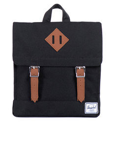 Herschel Survey Kids Black/Tan Synthetic Leather Backpack