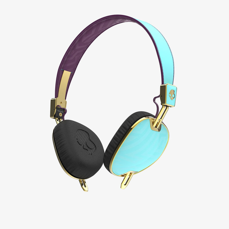 Skullcandy Knockout Robin/Smoked Purple/Gold Mic3 Headphones