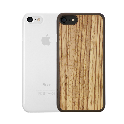 Ozaki 0.3mm Jelly+ Ultra Slim U0026 Light Weight Wood Case Zebrano/Clear 2 In  ...