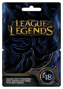 League Of Legends 18 Gbp Card