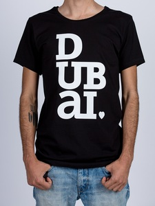 Dubailove Round Neck Black Men's T-Shirt XL