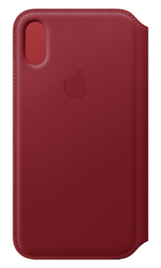 APPLE LEATHER FOLIO (PRODUCT)RED FOR IPHONE XS