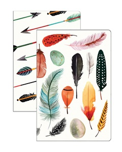 Galison Arrows & Feathers Mini Notebook Set