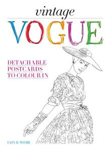 Vintage Vogue: Detachable Postcards to Colour in