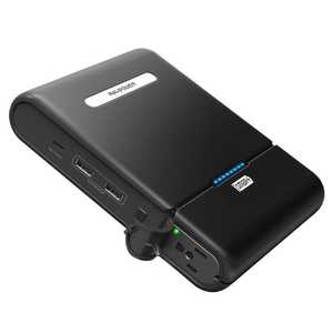 RAVPower 27000mAh Black Power Bank with Built-In AC Charger