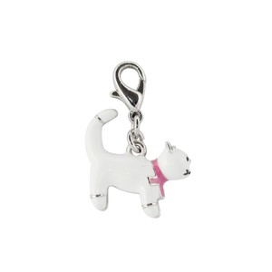 Bombay Duck White Cat Charm