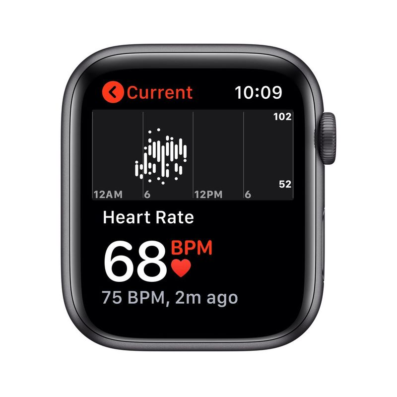 Apple Watch Series 5 GPS + Cellular 44mm Space Grey Aluminium Case with Black Sport Band S/M & M/L