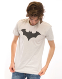 Batman 52 Title Logo Silver Men's Tshirt