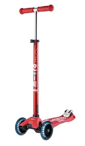 Maxi Micro Deluxe LED T-Bar Scooter Red