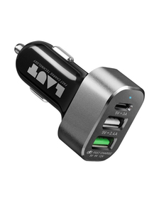 Laut Power Dash 3-Port USB 7.8A Black Car Charger