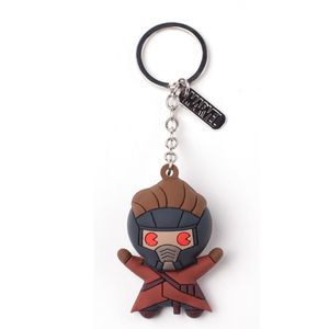 Difuzed Marvel Peter Quill Character 3D Rubber Keychain