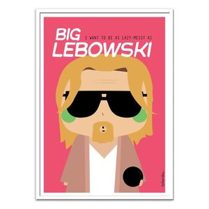 Big Lebowski Art Poster by Ninasilla [30 x 40 cm]