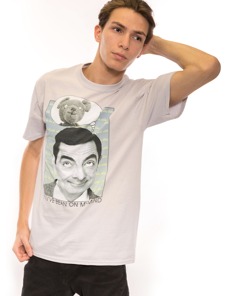 Mr Bean On My Mind Silver 18/1 Men'S Tshirt S