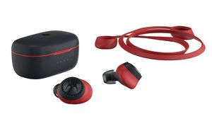 Motorola VerveBuds 200 Black/Red True Wireless Sport Earbuds with Neck Strap