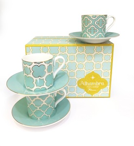 Rosanna Alhambra Espresso Cups & Saucers [Set of 6]