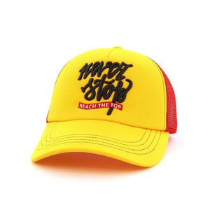 B180 Never Stop Reach the Top Men's Cap Yellow/Red