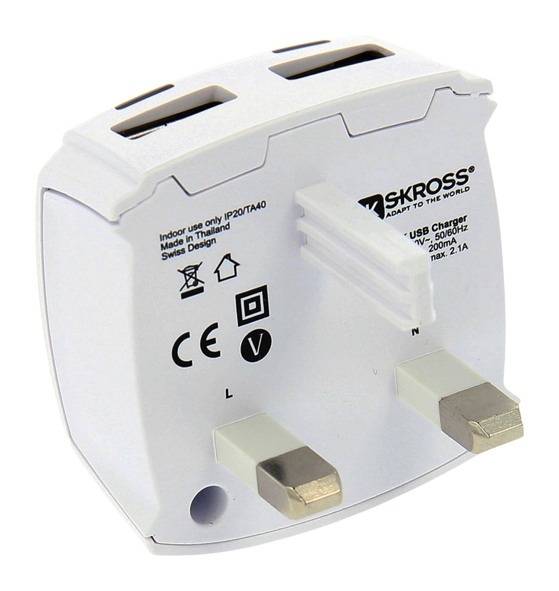 Skross Uk Usb Charger 2.1A