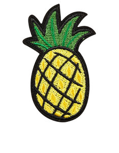 Skinny Dip Pineapple Yellow Iron-On Patch