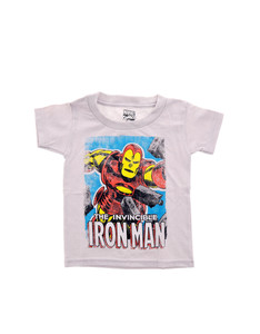 Iron Man Brick Out Silver Kid's T-Shirt
