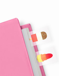 Mustard Ice Cream Ice Lolly Shaped Page Markers [100 Sheets]