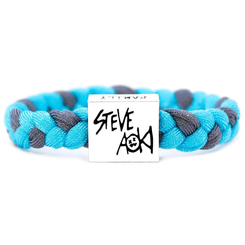 promotion spéciale site professionnel meilleur grossiste Electric Family Steve Aoki Light Blue/Grey Bracelet