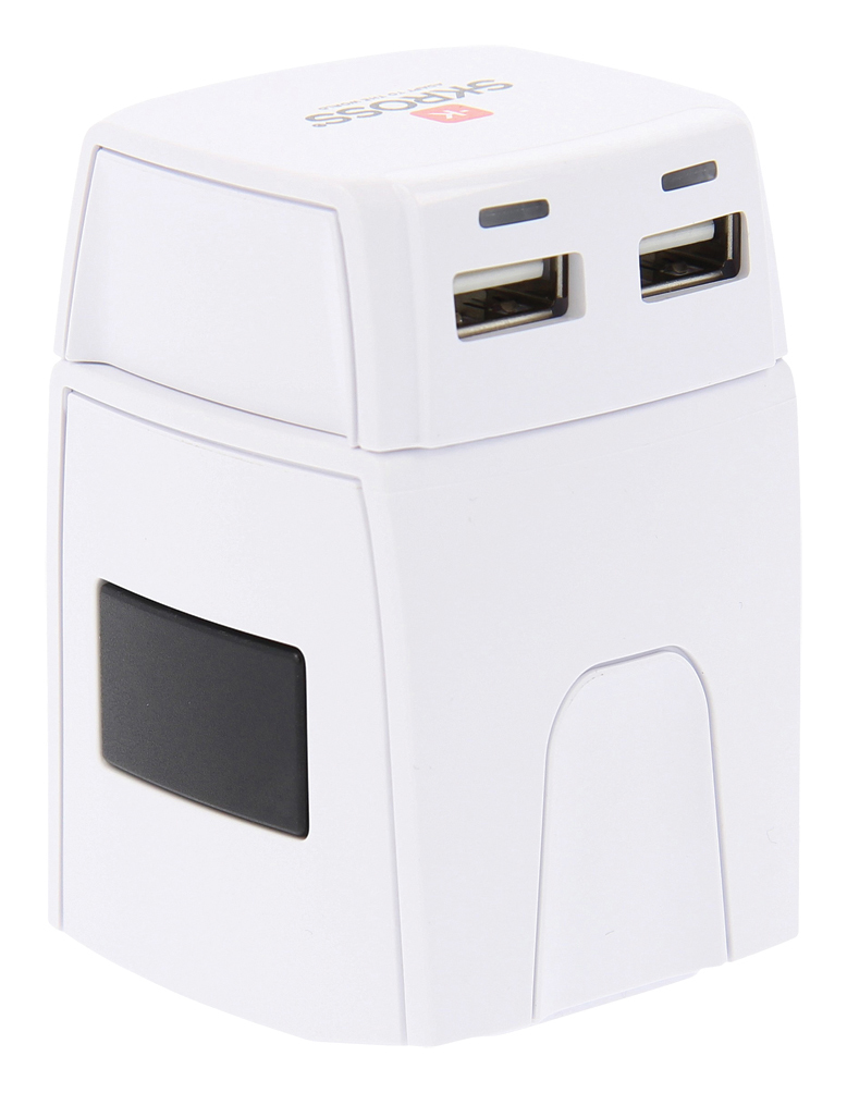 Skross World Travel Adapter 2-Pole W/Uk Usb Charger 2.1A