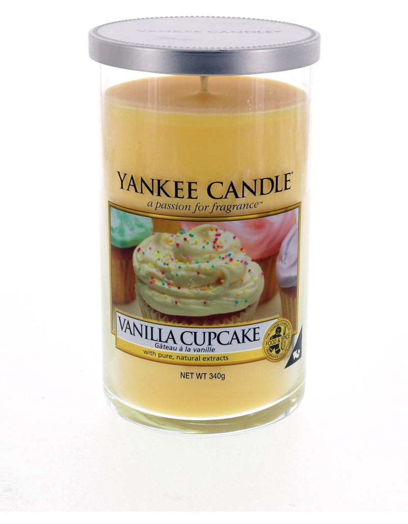 Yankee candle decor medium pillar vanilla cup cake for Candle painting medium