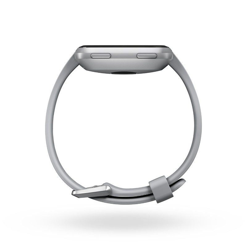 Fitbit Versa Grey/Silver Aluminum Smart Watch