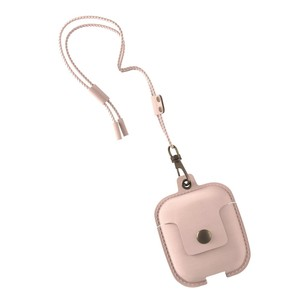 Woodcessories Leather Necklace Pink for Airpods