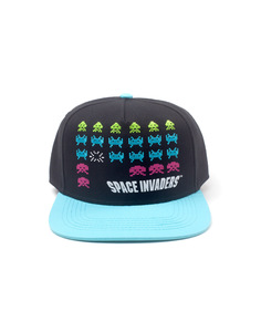 Difuzed Space Invaders Formation Snapback Black Cap