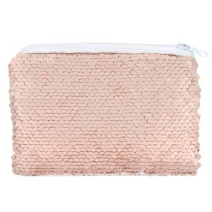 Something Different Pink and White Reversible Sequin Purse