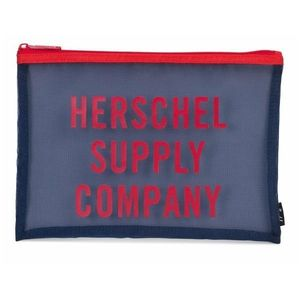 Herschel Network Large Mesh Pouch Navy/Red