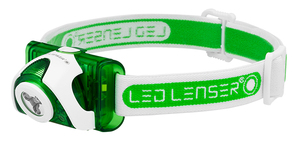 LED Lenser SEO3 Series Green Headlamp