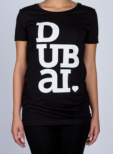 Dubailove Black Round Neck Women's T-Shirt XL