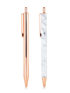 Skinny Dip Rose Gold Pen Pack of 2