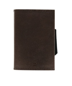 Ogon Cascade Aluminium & Leather Wallet Brown