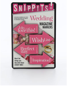 Snippits Magazine Page Markers Wedding