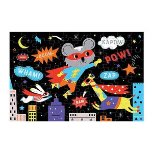 Mudpuppy Superhero Glow In The Dark Puzzle
