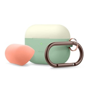 Elago Duo Hang Case Top Classic White/Peach Bottom Pastel Green for AirPods Pro