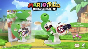Mario + Rabbids: Kingdom Battle - Rabbid Yoshi / Lapin Yoshi: 3 Inches Figurine